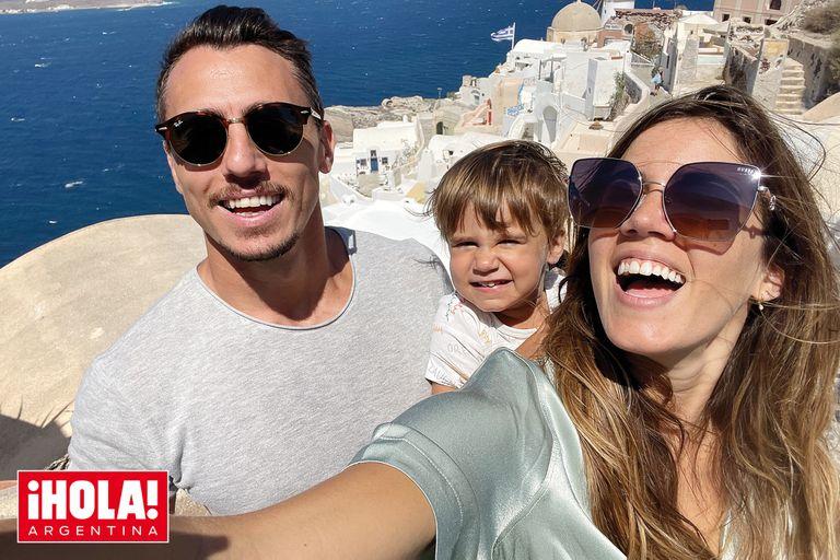 Juan Imhoff y Natacha Eguía comparten las fotos de su tour por Grecia con Bastián, su heredero