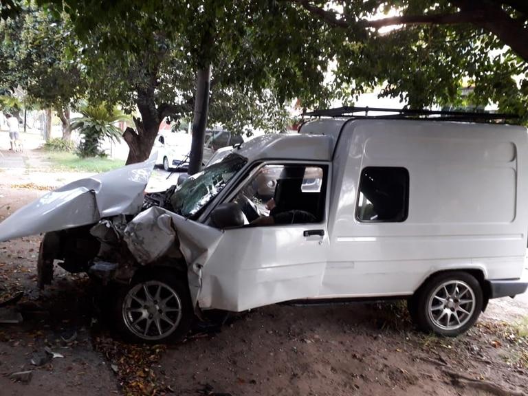 El choque de Marcos Antonio Lasserre, acusado de un femicidio y homicidio en Parque Barón