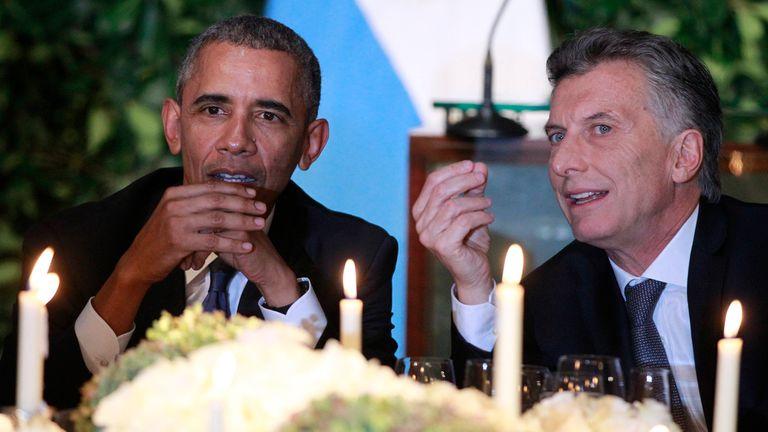 Obama en Argentina, cena en el CCK, Mauricio Macri