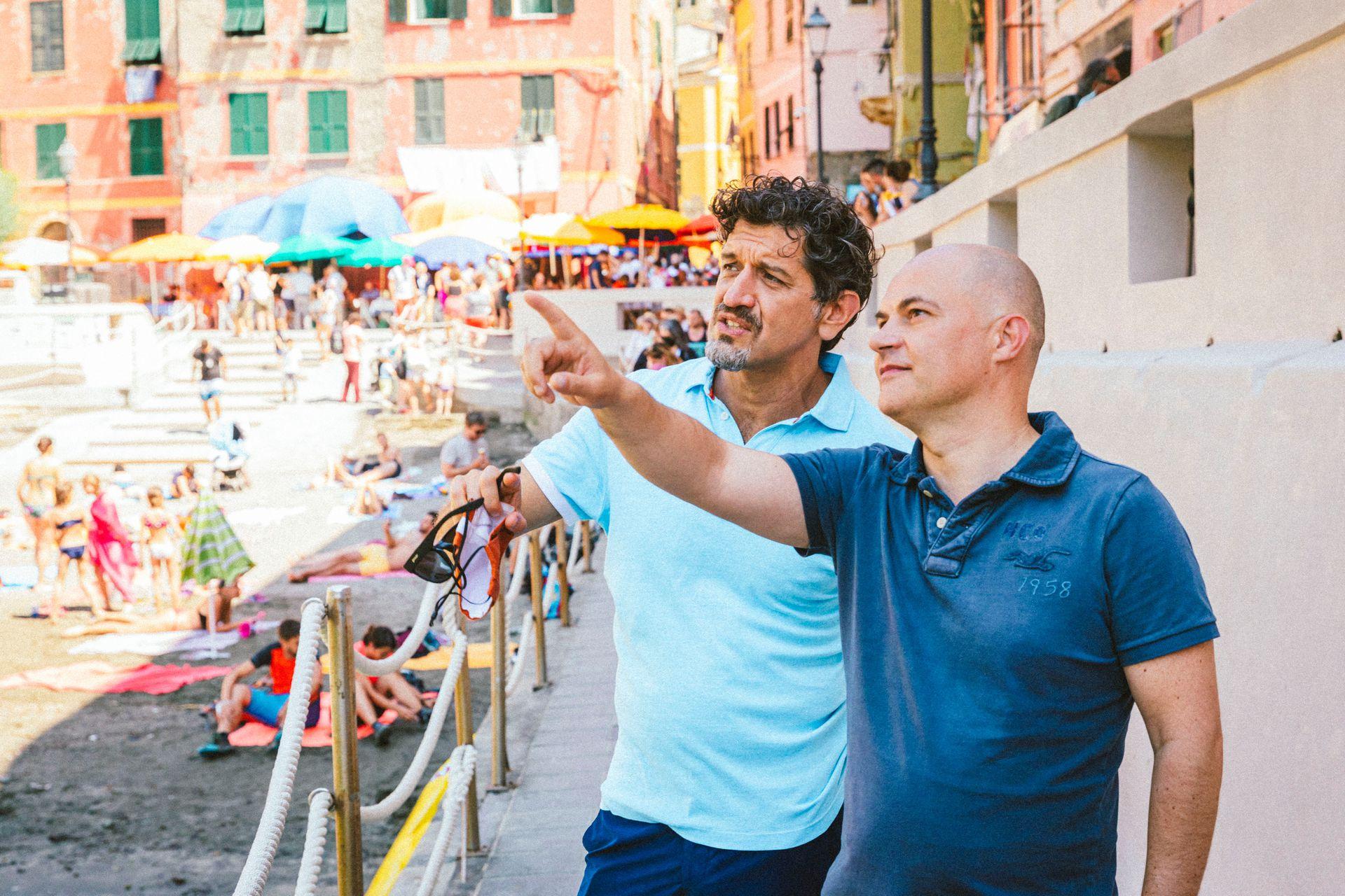 Enrico Casarosa, el director, y su equipo recorrieron localidades de Cinque Terre durante 4 años, para detectar las mejores locaciones.