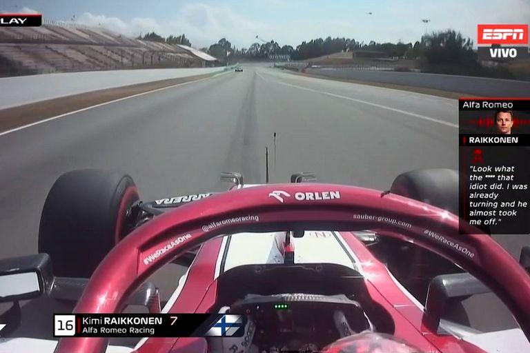 Fórmula 1: bronca e insulto de Räikkönen por la peligrosa maniobra de Grosjean