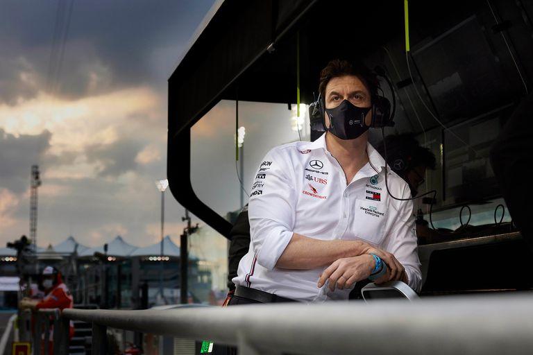 Toto Wolff durante el Gran Premio de Abu Dhabi, 2020