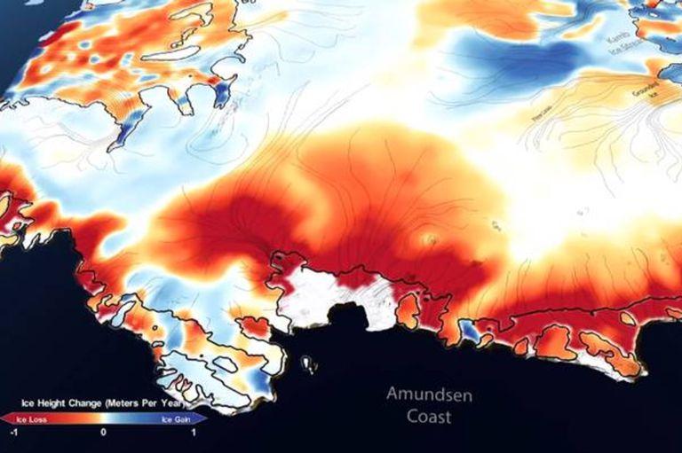 Glaciares: un satélite mostró cómo avanza el dramático deshielo en la Antártida