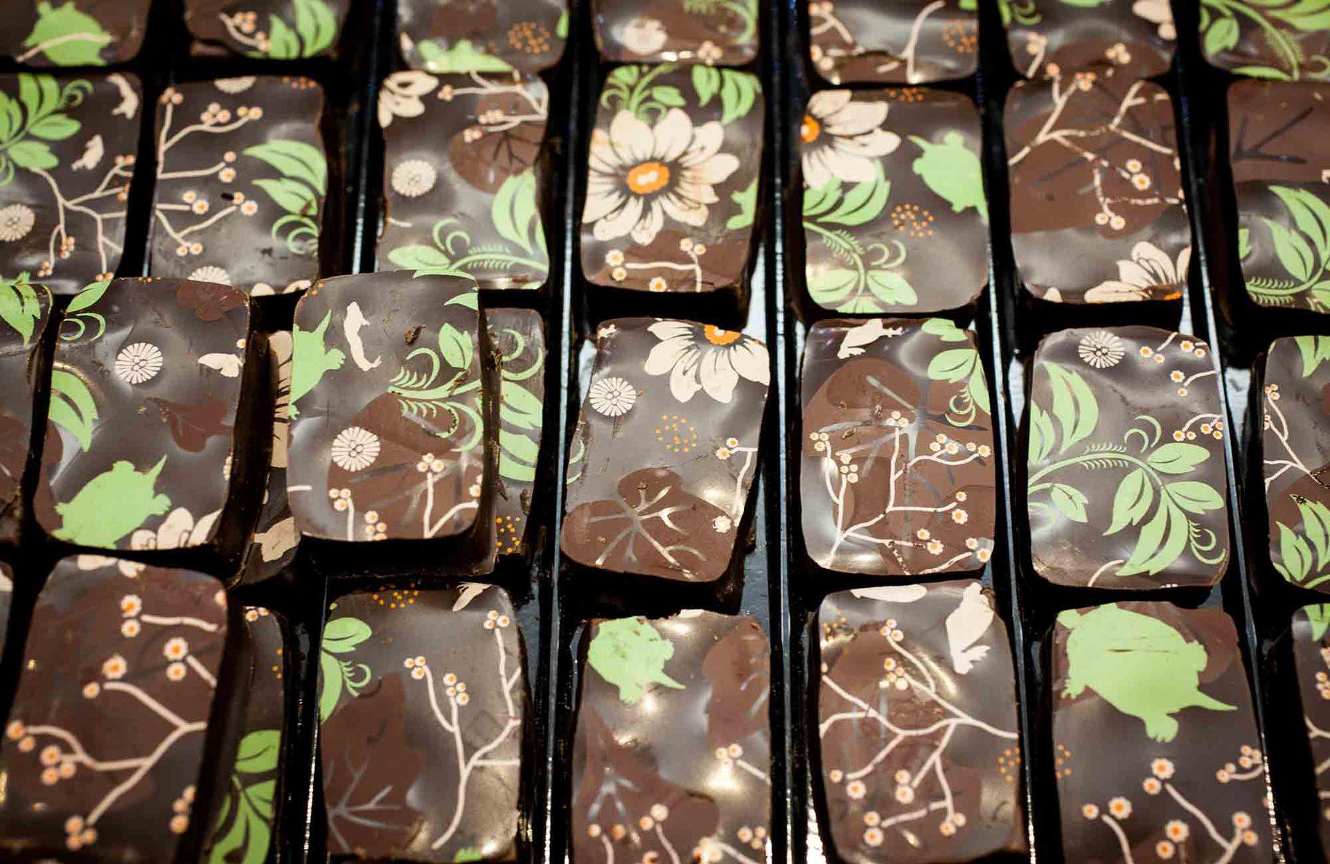 Los delicados chocolates de la tienda de Frères Lauzéa.