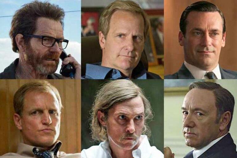 Bryan Cranston, Jeff Daniels, Jon Hamm, Woody Harrelson, Matthew McCounaghey y Kevin Spacey, los actores dramáticos del año
