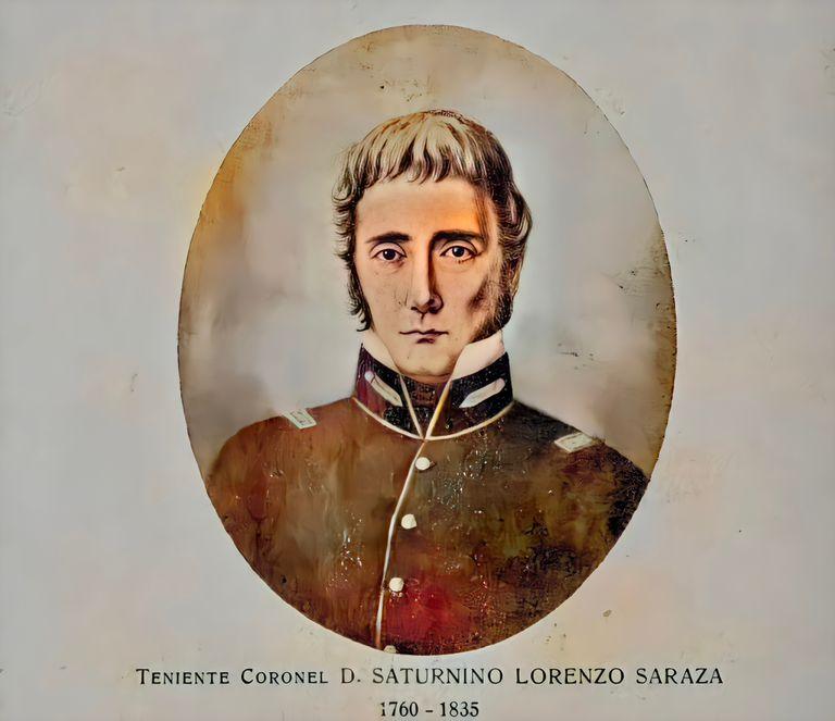 Saturnino Saraza, hijo de un inmigrante vasco y una porteña. Participó de la Semana de Mayo, peleó junto a Belgrano y fue gobernador de San Juan.