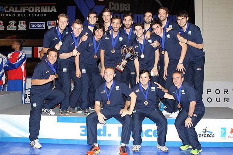 El equipo argentino con su medalla de bronce en Tijuana