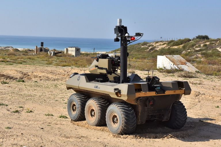 Israel despliega su robot militar armado para controlar sus fronteras