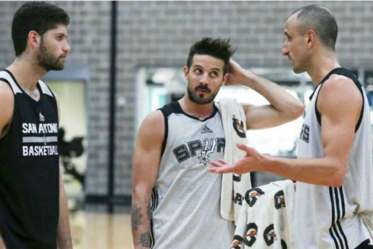 Pato, en el breve período de pretemporada que compartió con Nicolás Laprovittola y Manu Ginóbili en San Antonio Spurs, de la NBA; terminaría jugando cinco partidos en Orlando Magic, en 2017.