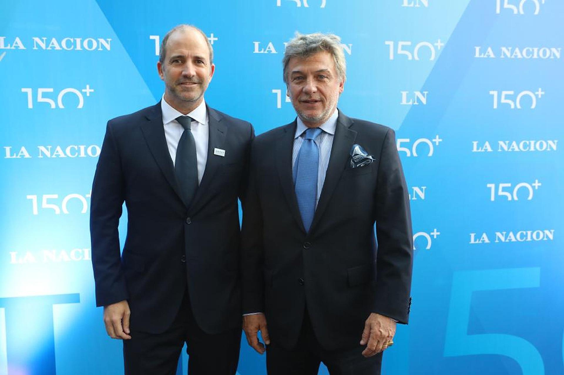 Gervasio Márques Peña, Director Comercial de LA NACION, y el empresario de indumentaria Mariano Rodríguez Giesso