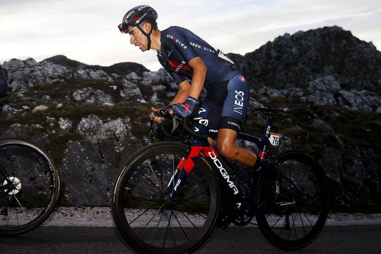 13-10-2021 El ciclista colombiano Iván Ramiro Sosa en La Vuelta 2020, en la etapa 12 entre Pola de Laviana y el Alto del Angliru DEPORTES LUIS ANGEL GOMEZ/PHOTO GOMEZ SPORT