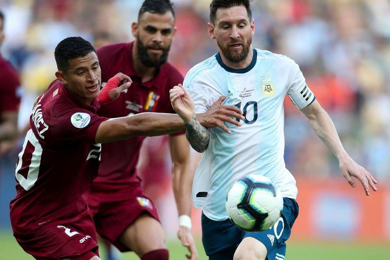 Argentina y Venezuela se vieron las caras por última vez en los cuartos de final de la Copa América de 2019 con triunfo del equipo de Scaloni por 2 a 0