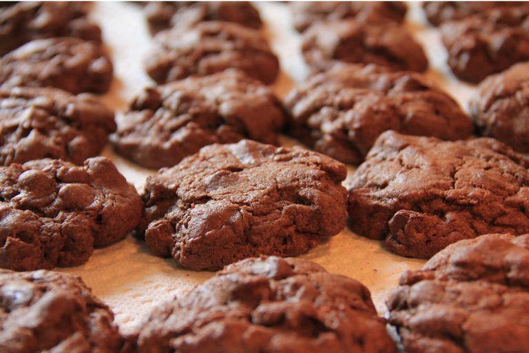 Cookies con masa de brownie
