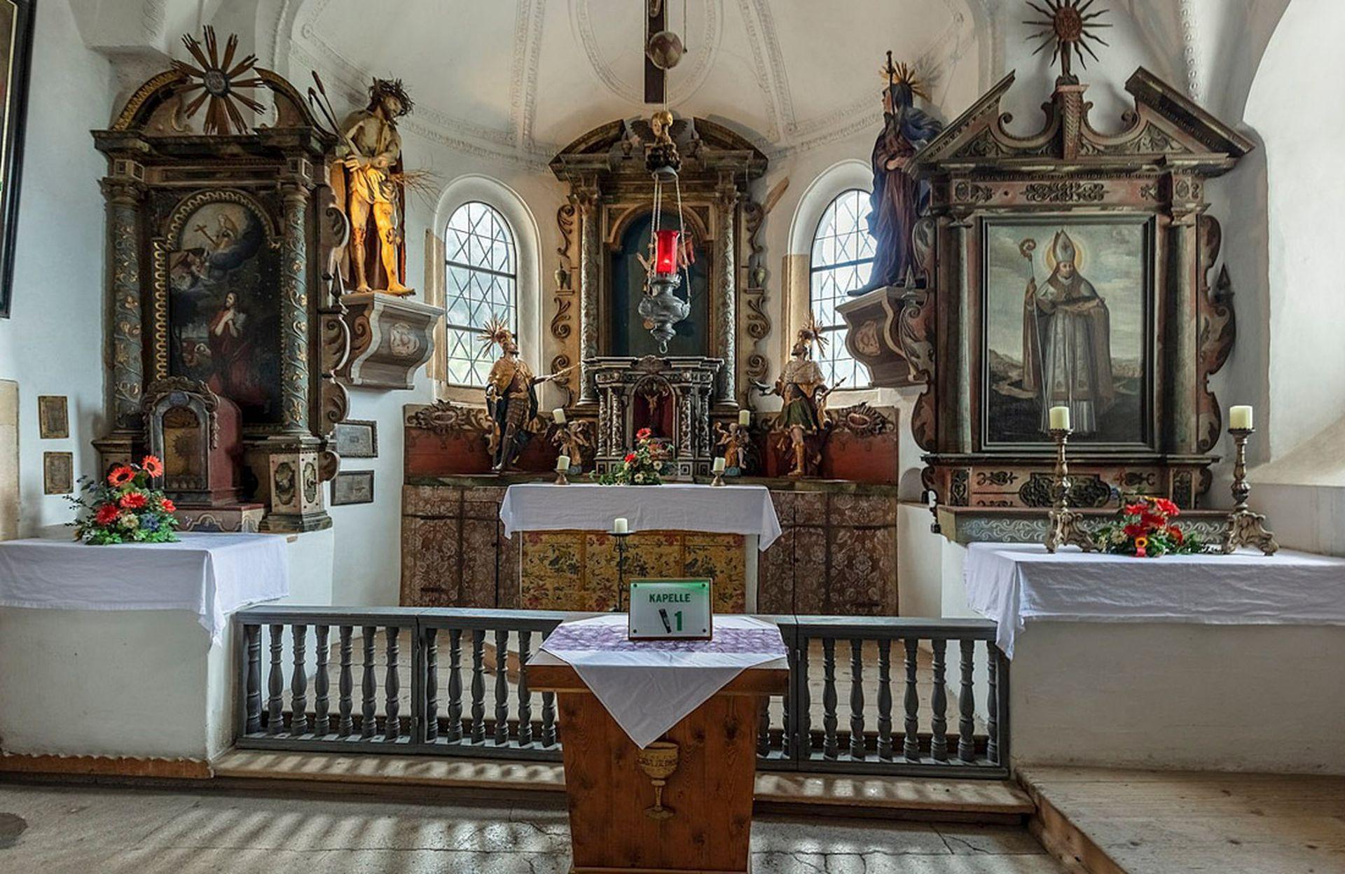 Hohenwerfen tiene una capilla con tesoros de arte sacro.