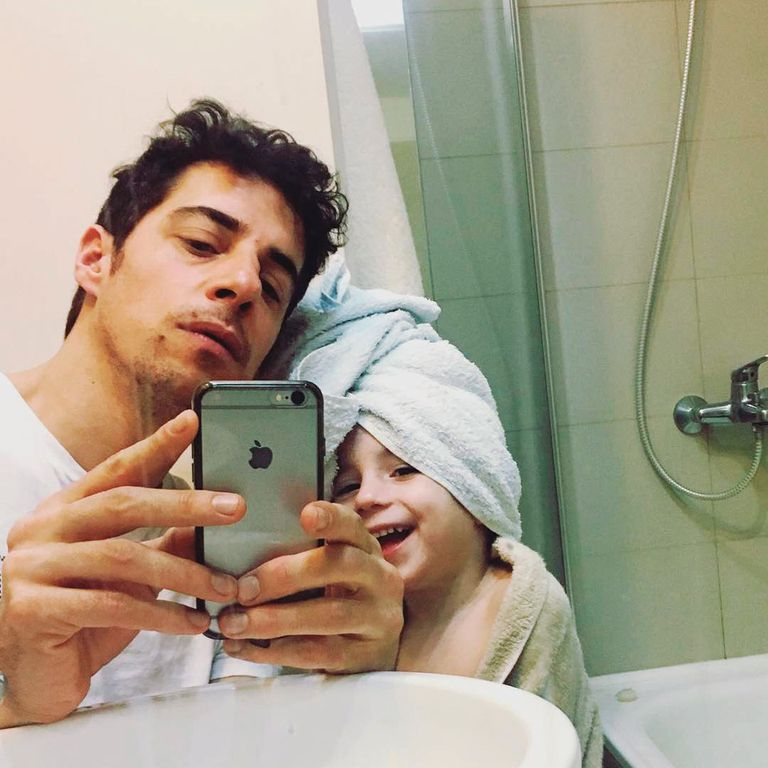 Lamothe con su hijo Luis Ernesto