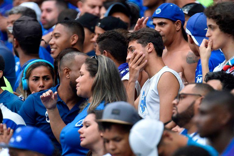 La tristeza de los miles de hinchas del Cruzeiro