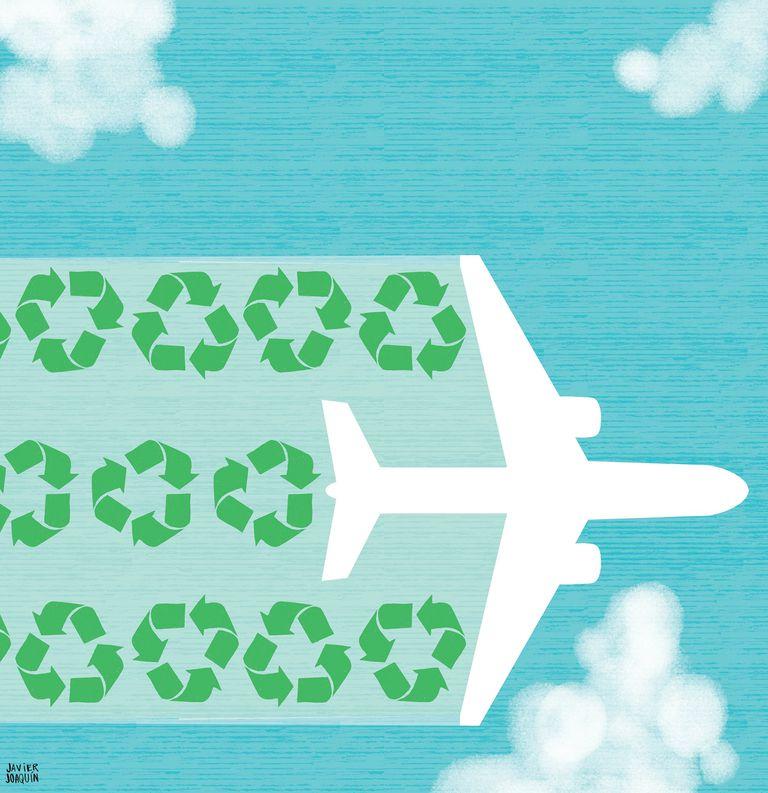 Vasos que se comen y otras innovaciones en busca de vuelos verdes