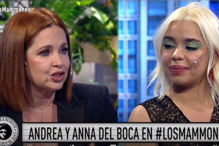 Por primera vez Andrea y Anna del Boca, madre e hija, estuvieron juntas en una entrevista televisiva y se emocionaron en vivo