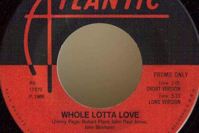 "Simple en vinilo de ""Whole Lotta Love"""
