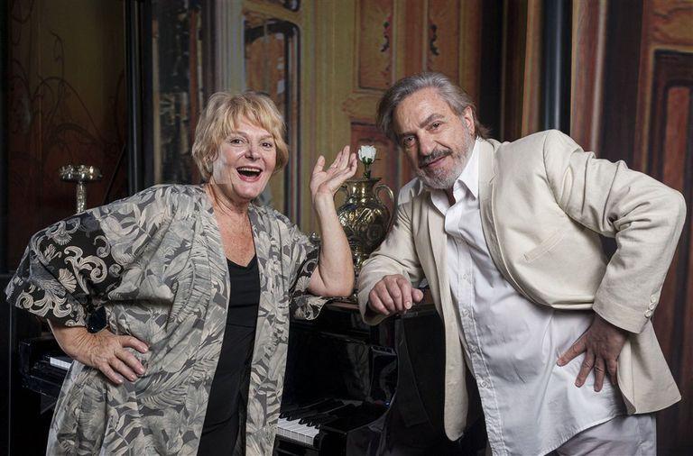 Claudia Lapacó, por primera vez en su carrera en la piel de Filomena, y Antonio Grimau, los protagonistas de la obra