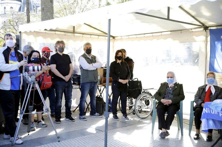 Amado Boudou en un acto de las Madres de Plaza de Mayo