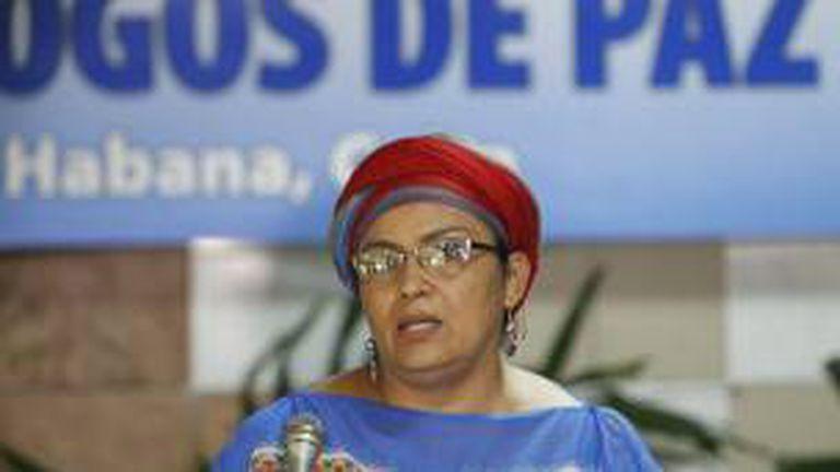 Victoria Sandino, miembro del equipo negociador de las FARC en Cuba, fue la responsable de anunciar la medida
