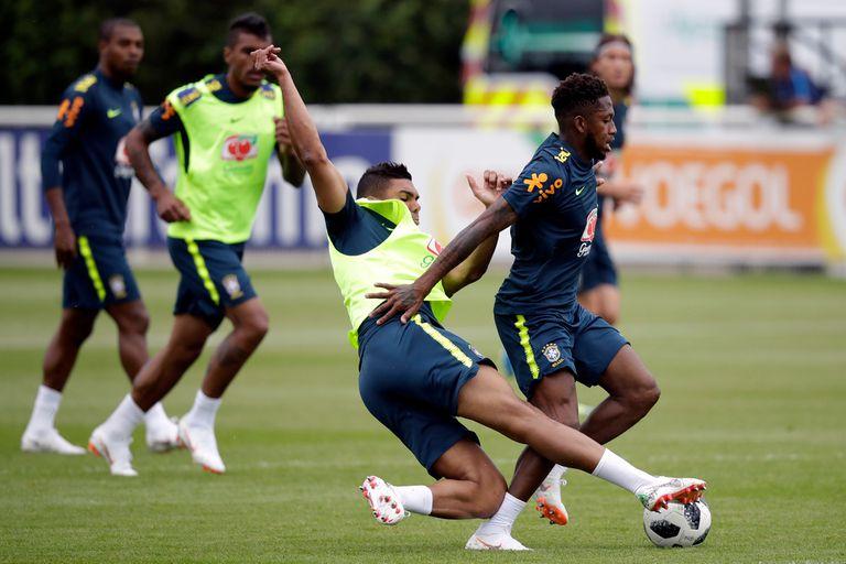 Mundial Rusia 2018. Brasil: Neymar fue titular en una práctica con un lesionado