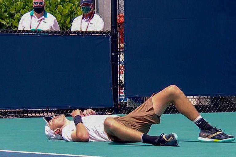 Miami Open: el jugador que colapsó por el intenso calor y el mal día argentino