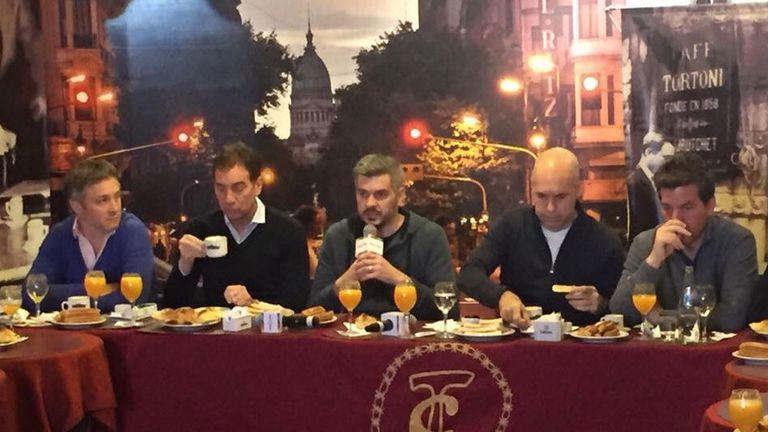El tradicional desayuno de los candidatos de Cambiemos en El Tortoni