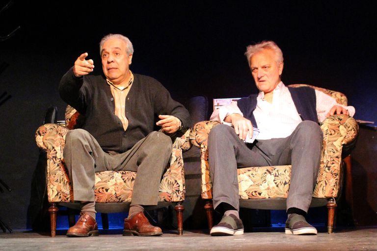 Guillermo Marcos y Héctor Calori, en Aeroplanos, de Gorostiza