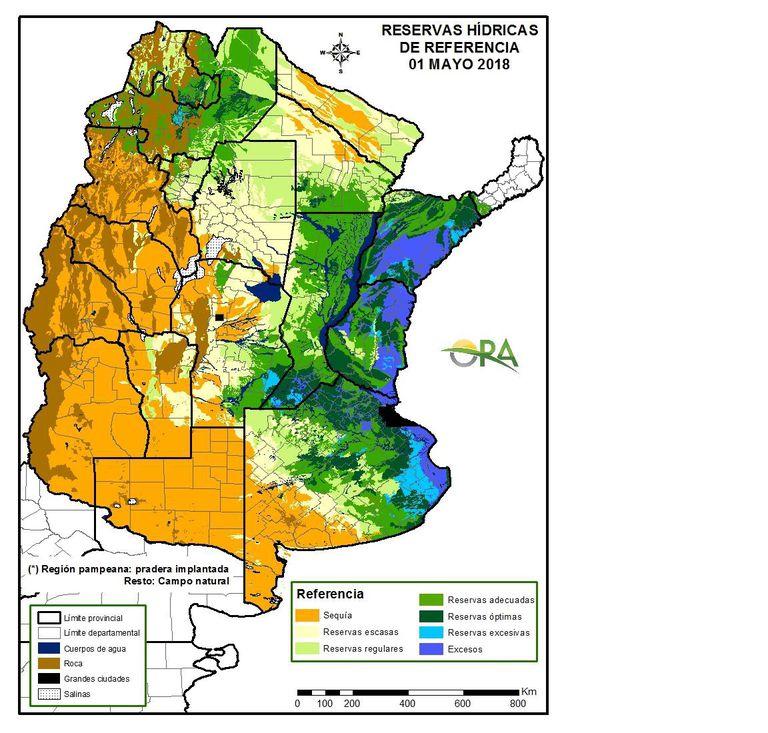 Las reservas de agua en el suelo hoy
