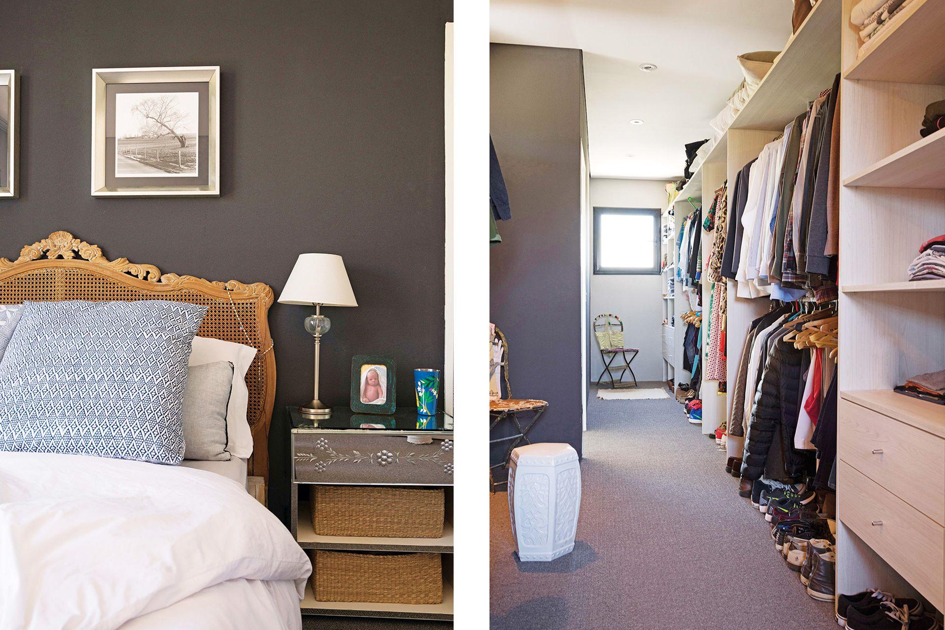 La suite, con un comodísimo y luminoso vestidor integrado.