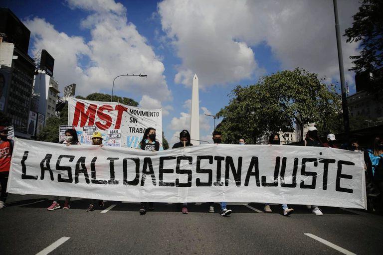La 9 de Julio será otra vez el escenario de las protestas.