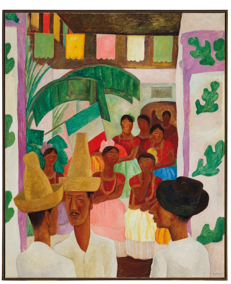 """""""Los rivales"""", pintura encargada por Abby Rockefeller a Diego Rivera y exhibida en el MoMA, se rematará en mayo"""
