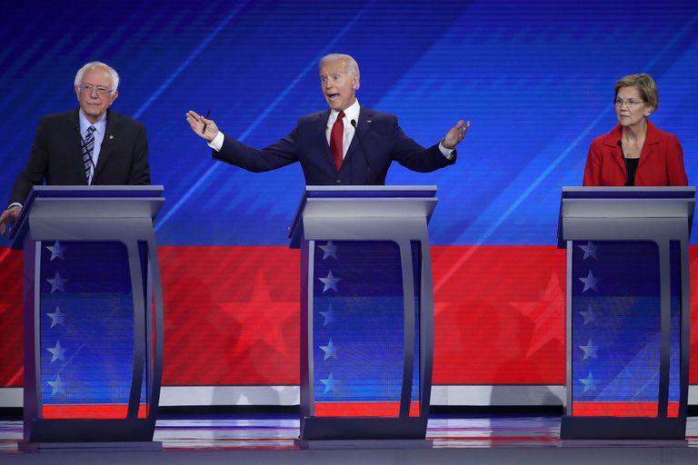 Debate demócrata: Biden salió al cruce en la carrera para derrotar a Trump