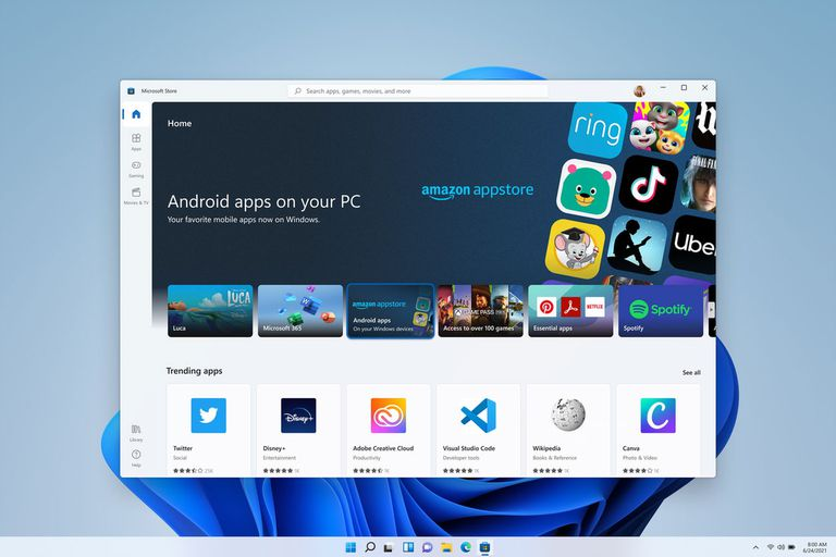 Cómo se podrán instalar aplicaciones de Android en la PC y por qué se usará la tienda de Amazon