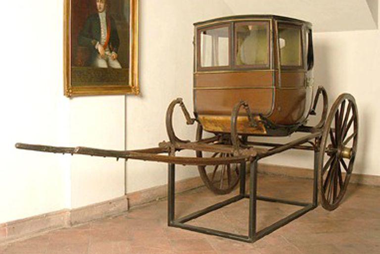 La Calesa con el cuadro de Francisco Casimiro Marcó del Pont está en el Museo Histórico Nacional