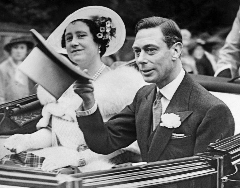 El rey Jorge VI y la reina Isabel en 1938