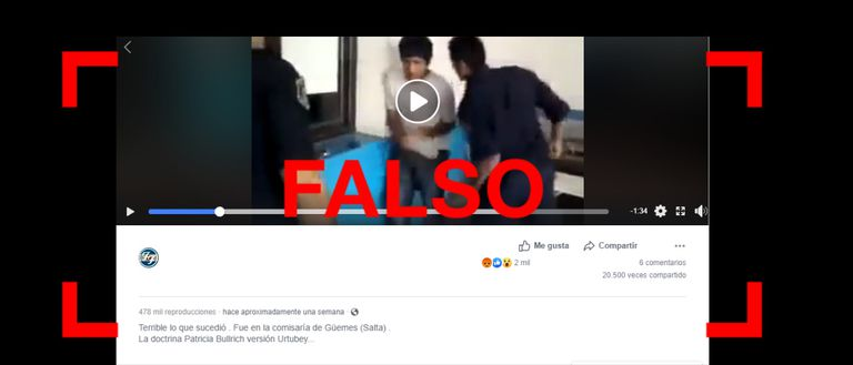 El video de un policía pegándole a un joven en Salta no es actual, sino de 2012
