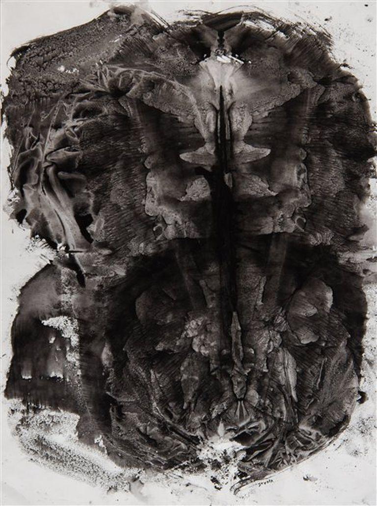 Fósil VI. Tinta sobre papel, 2006. Gentileza Jorge Mara-La Ruche
