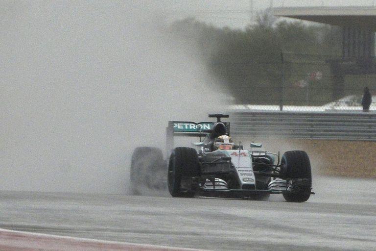 Hamilton marcó el mejor tiempo en los ensayos de Austin