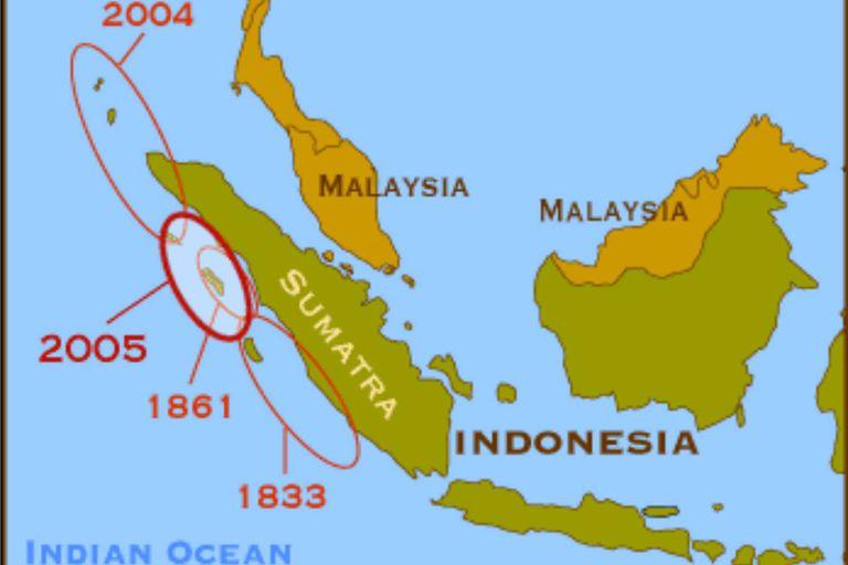 Sumatra sufrió varios movimientos sísmicos, pero el de 1861 fue la culminación de un lento sismo que duró 32 años, de acuerdo a los científicos