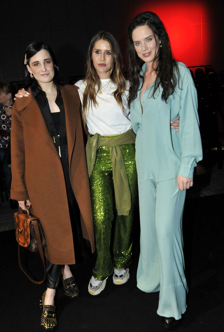 Flor Torrente, Micaela Tinelli y Delfina Chaves en la presentación de la nueva colección de Ginebra