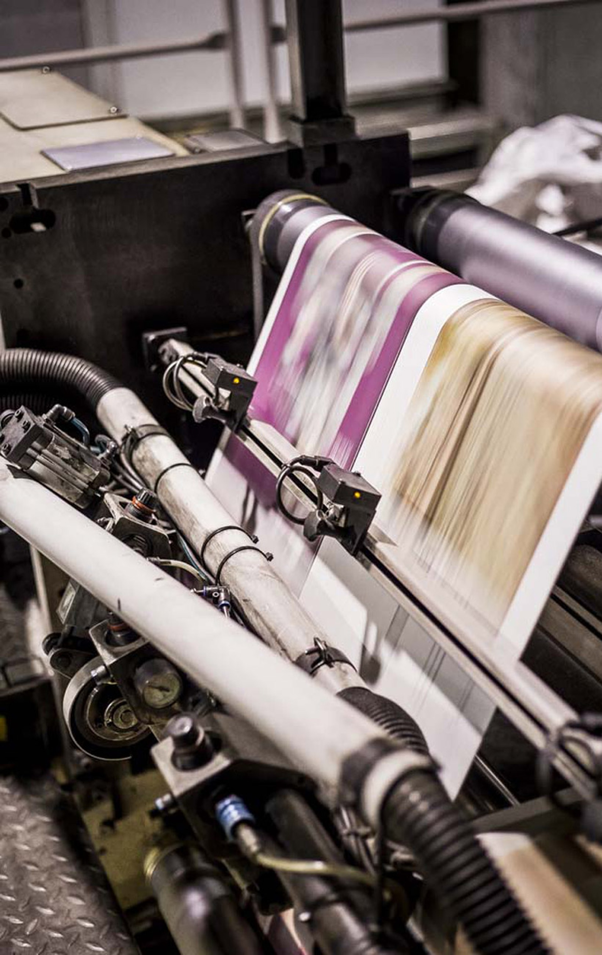 Las rotativas imprimen alrededor de 52 mil ejemplares por hora.