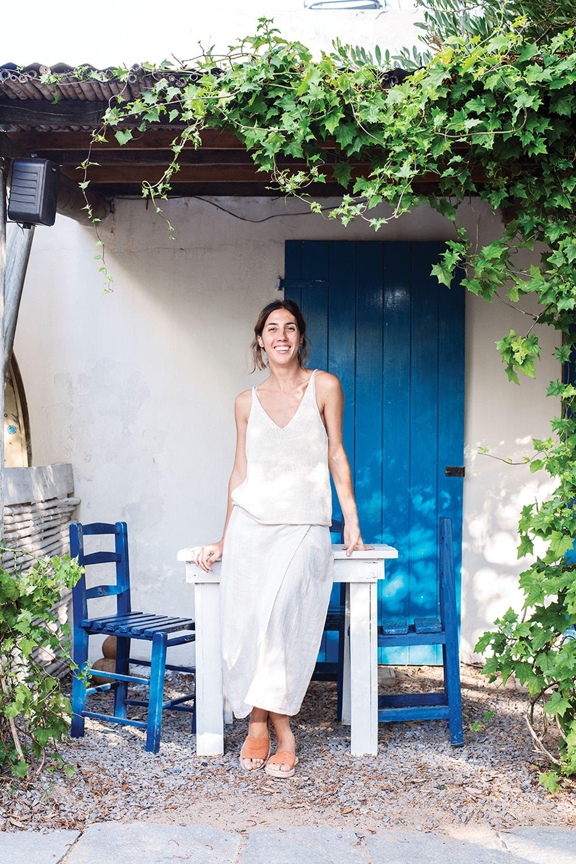Guillermina Dinelli, de 32 años, cambió Palermo por Punta del Este, donde se dedica a la decoración de interiores