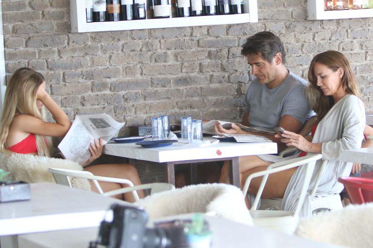 Guillermo Andino y su familia almorzaron en un parador de José Ignacio después de su tarde de playa