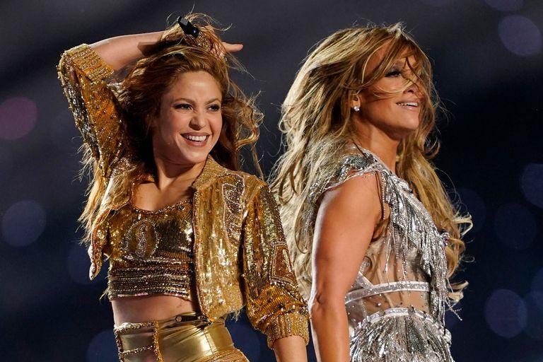 Shakira y Jennifer Lopez, en el Super Bowl