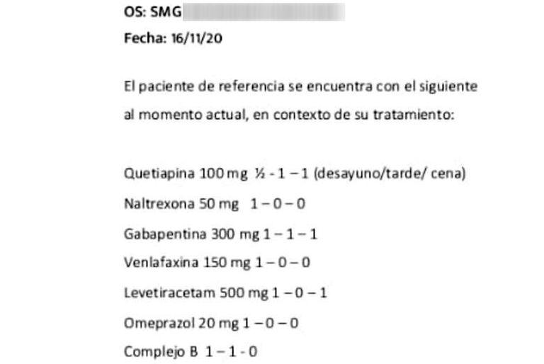 La lista de los medicamentos que le recetaron a Diego Maradona