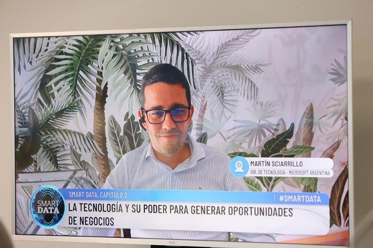 Martín Sciarrillo, director de tecnología de Microsoft Argentina, participó del evento de forma virtual
