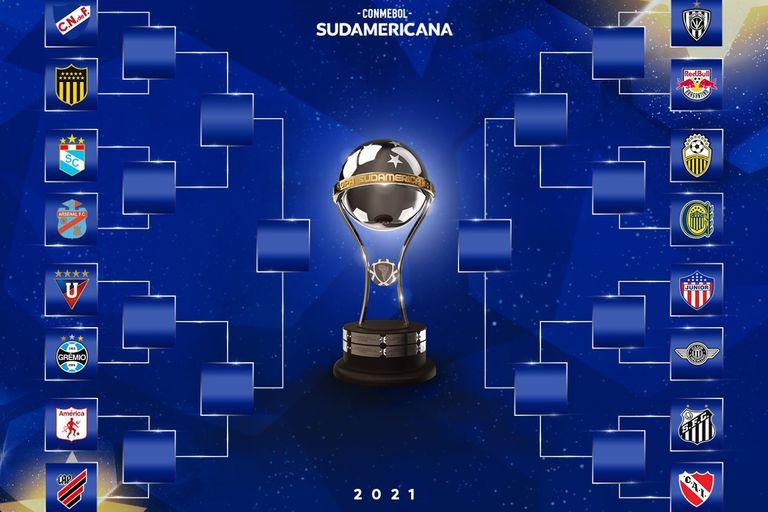 Sudamericana. El histórico rival del Rojo y los duelos de Central y Arsenal